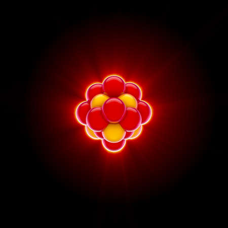 3d render of a red nucleus Stock Photo