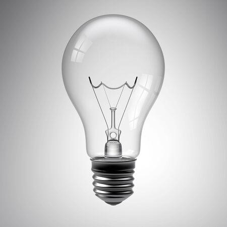 3d render of a light bulb on white Stock Photo