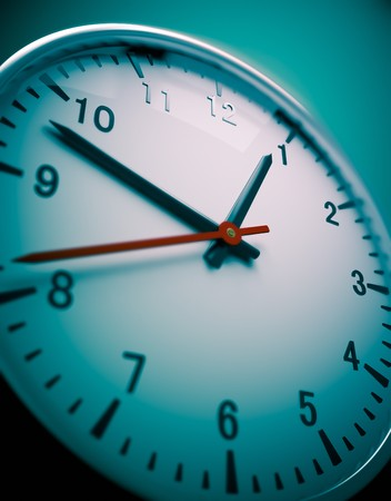 3D redner of a wall clock Stock Photo