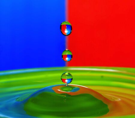 RGB Reflection on droplet Stock Photo - 15252577