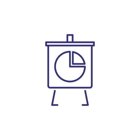 Office board line icon. Graph, presentation, analytics. Analysis concept. Can be used for topics like business, marketing, economy, reporting