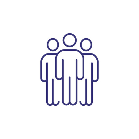 Team line icon. People, workgroup, conference. Business meeting concept. Can be used for topics like negotiation, teamwork, working together 일러스트