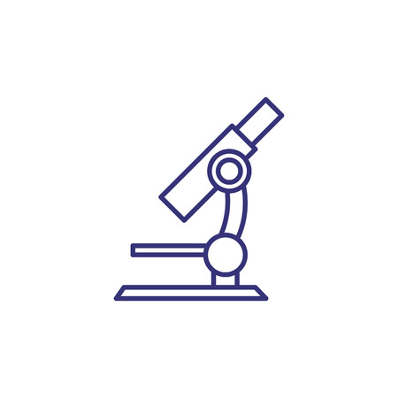 Microscope line icon. Laboratory, research, analysis. Medicine concept. Vector illustration can be used for topics like science, education, chemistry