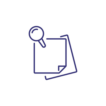 Note line icon. Sticker, papers, pin. Office concept. Can be used for topics like stationary, reminder, message