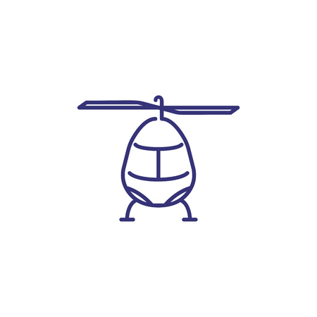 Helicopter line icon. Aircraft, emergency, private vehicle. Transport concept. Vector illustration can be used for topics like transportation, air travel, aviation  イラスト・ベクター素材
