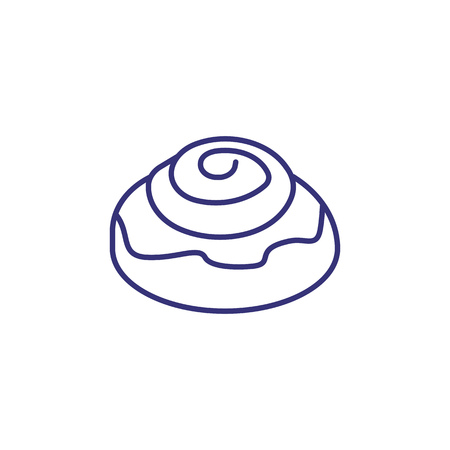 Cinnamon roll line icon. Dessert, snack, pastry. Breakfast concept. Vector illustration can be used for topics like coffeeshop, restaurant, diet