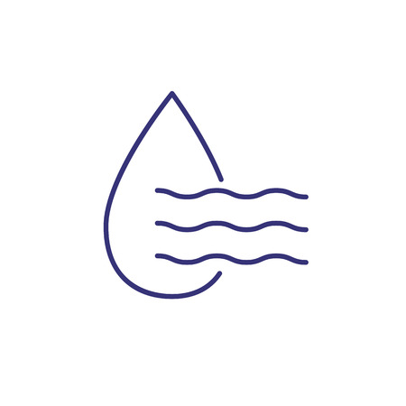 Humidity line icon. Weather, nature, environment. Weather concept. Vector illustration can be used for topics like environment, ecology, weather forecast