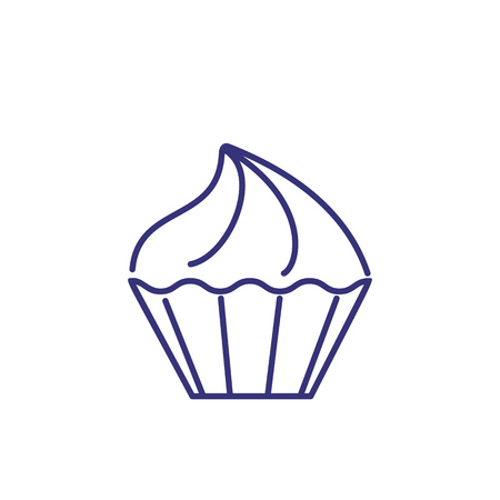 Small meringue line icon. Confectionary, mini, food. Dessert concept. Vector illustration can be used for topics like cookie, sweet, bakery