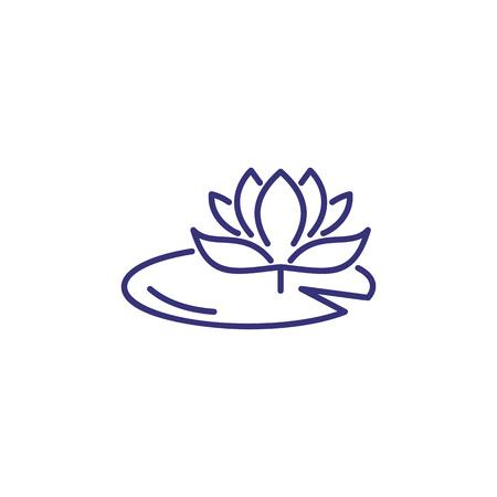 Icono de línea de lirio de agua. Flor, naturaleza, botánica. Concepto de flor. La ilustración vectorial se puede utilizar para temas como primavera, naturaleza, biología.
