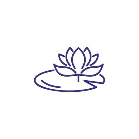 Water lily line icon. Flower, nature, botany. Flower concept. Vector illustration can be used for topics like spring, nature, biology.