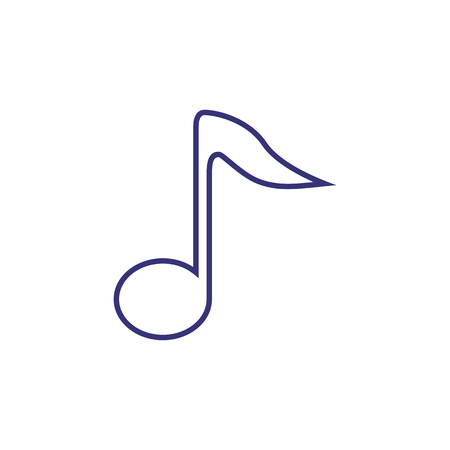 Music note line icon. Melody, musical, playlist. Sound concept. Vector illustration can be used for topics like composing, performance, classical music