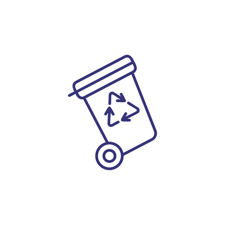 Recyclable waste line icon. Container, pollution, trash. Recycling concept. Vector illustration can be used for topics like ecology, urban, environment