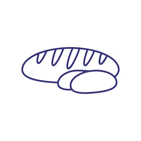 Bread line icon. Baguette, loaf, bun. Pastry concept. Vector illustration can be used for topics like bakery, carbohydrate, cooking