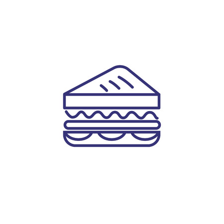 Sandwich line icon. Lunch, snack, toast. Food concept. Vector illustration can be used for topics like catering, cooking, meal