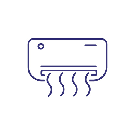 Air conditioner line icon. Fan, conditioning system, unit. Home appliances concept. Can be used for topics like building, climate, comfort  イラスト・ベクター素材