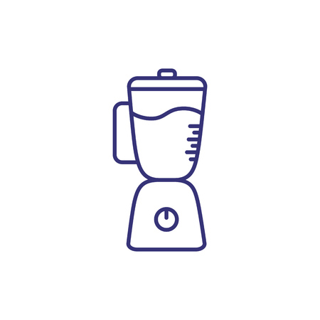 Blender line icon. Mixer, juicer, machine. Home appliances concept. Can be used for topics like cooking, kitchen, food