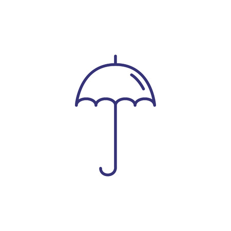 Umbrella line icon. Umbrella on white background. Protection concept. Vector illustration can be used for topics like weather, rain, equipment