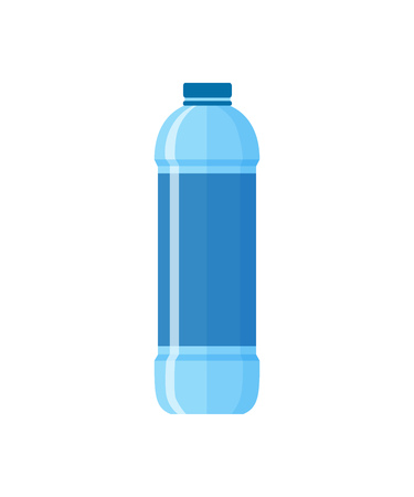 Modern water bottle illustration. Plastic, pure, drinking. Food and drinks concept. Vector illustration can be used for topics like food, supermarket, drinking, lifestyle