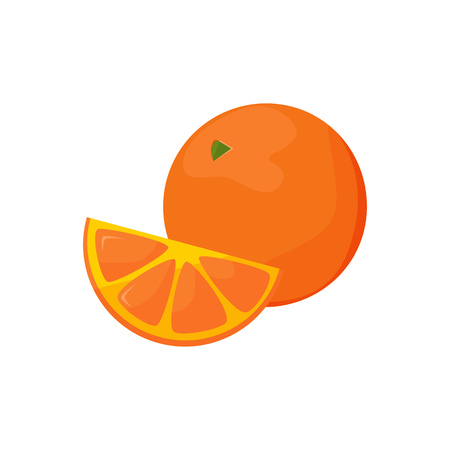 Orange illustration. Fruit, fresh, delicious. Food concept. Vector illustration can be used for topics like food market, ecology, nature