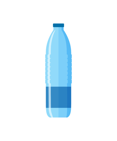 Plastic water bottle illustration. Pure, clear, drinking. Food and drinks concept. Vector illustration can be used for topics like food, supermarket, drinking, lifestyle