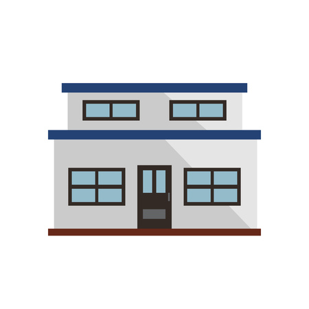 White small townhouse illustration. Home, design, architecture. Building concept. Vector illustration can be used for topics like real estate, advertisement, house