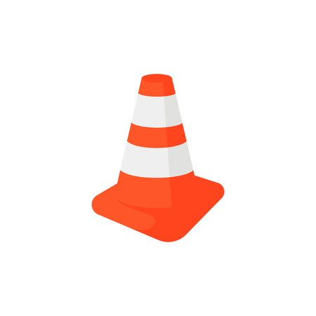Under construction signal illustration. Warning, cone, traffic. Construction concept. Can be used for topics like site, building work, safety