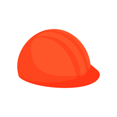 Helmet illustration. Hardhat, hard hat, foreman, contractor. Construction concept. Can be used for topics like site, building work, protection Ilustrace