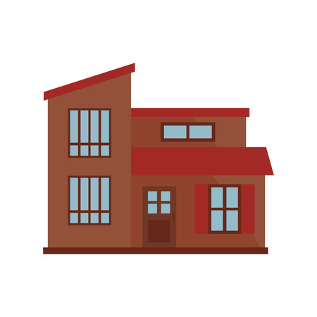 Brown townhouse illustration. Home, design, architecture. Building concept. Vector illustration can be used for topics like real estate, advertisement, house Illustration