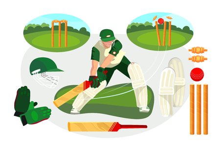 Set of lapta game actions. Player, batting, competition. Can be used for topics like leisure, ball game, activity