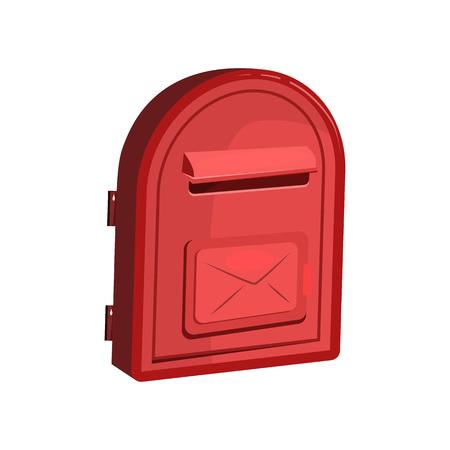 Boîte aux lettres de porte rouge. Réception, minimale, message. Peut être utilisé pour des sujets tels que la communication, la correspondance, le service