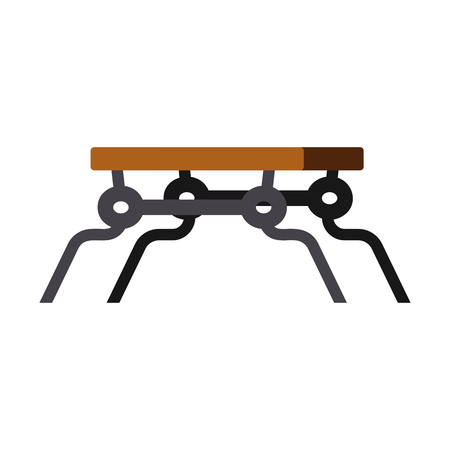 Wooden park bench flat icon. Seat, urban style, supermarket bench. Chairs concept. Vector illustration can be used for topics like furniture, store catalogue, city