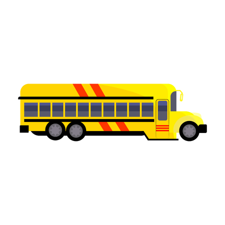 School bus illustration. Taking children to school, vehicle. Transport concept. Vector illustration can be used for topics like social service, transportation, school