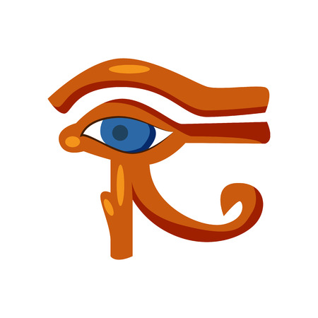 Eye of Horus hieroglyph. Protection amulet in shape of eye. Can be used for topics like history, mythology, archeology