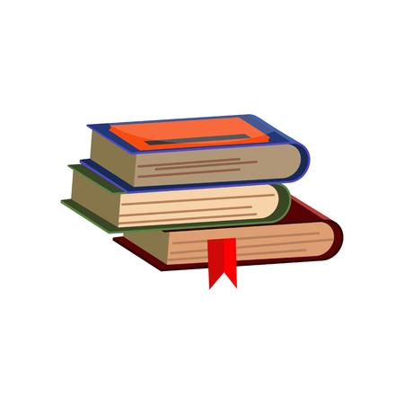 Pile de livres d'étudiants. Pile de dictionnaires. Peut être utilisé pour des sujets comme l'encyclopédie, la connaissance, la littérature