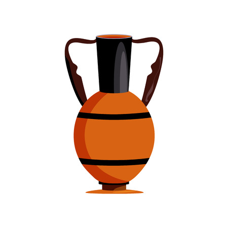 Ancient vase vector illustration. Historic, ancient, antique. Ancient Egypt concept. Cartoon illustration can be used for topics like history, museum, souvenir