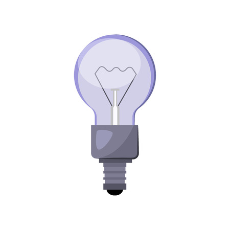 Incandescent light bulb flat icon. Solution, idea, electric light. Light bulbs concept. Vector illustration can be used for topics like electricity, energy, power