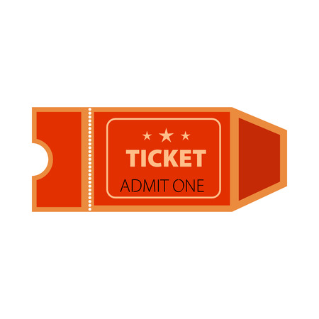 Red admit one ticket vector illustration. Fair, show, concert. Tickets concept. Vector illustration can be used for topics like entertainment, leisure, business Illustration