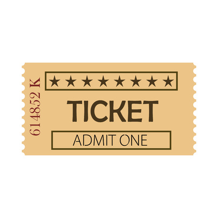 Ticket admit one vector illustration. Pass, coupon, free enter. Tickets concept. Vector illustration can be used for topics like entertainment, leisure, business