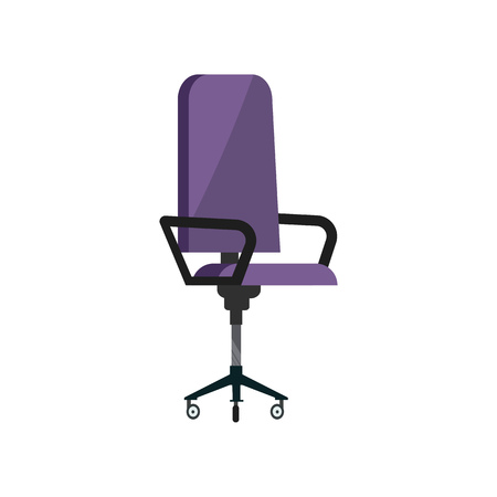 Office chair. Employee, manager or boss armchair. Office attributes concept. Vector illustration can be used for topics like workplace, furniture, interior