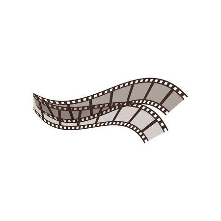 Cinema film reel. Black and white filmstrip. Can be used for topics like premiere, leisure, cinematography