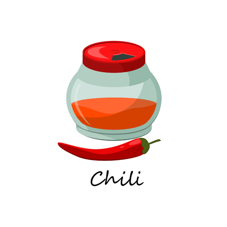 Hot spice made of chili pepper. Seasoning ingredient for dishes. Can be used for topics like gourmet, cuisine, flavoring