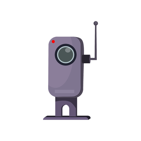 Web camera with antenna. Small camera for online communication. Can be used for topics like video conferencing, chatting, webinar
