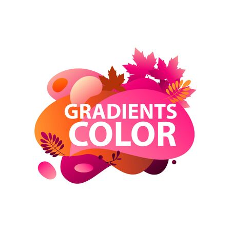 Abstract graphic elements. Orange pink, magenta, colors, autumn leaves. Fluid forms, layers, flowing shapes. Vector template for logo, presentation, flyer design