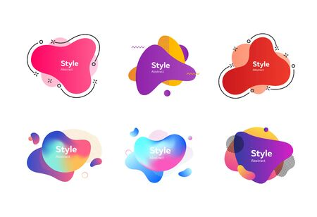Set of abstract colorful graphic elements. Design background. Vector illustration. Can be used for advertising, marketing, presentation