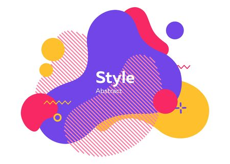 Geometric abstract figure. Dynamical colored forms and lines. Gradient abstract banners with flowing liquid shapes. Template for flyer, presentation