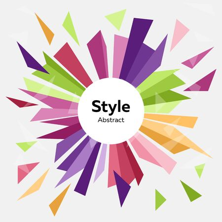 Isolated graphic element on abstract colorful background design. Vector. Advertising concept. Illustration can be used for web design, advertising, mobile application, interface, flyer, presentation Standard-Bild - 133770623
