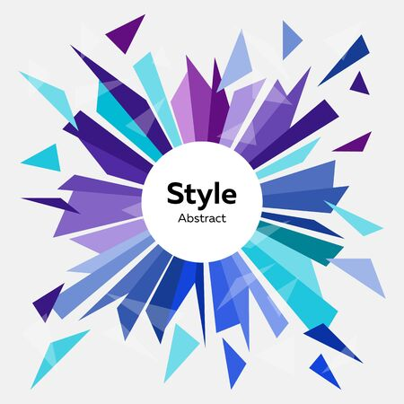 Abstract vector background template. Style design. Advertising concept. Vector illustration can be used for web design, advertising, interface, logo, presentation Standard-Bild - 133770741
