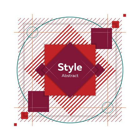 Geometric abstract figure. Dynamical colored forms and lines. Abstract banner with geometric shapes. Template for web app, banner, advertising. Vector illustration