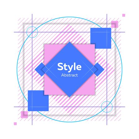 Colorful abstract shape. Dynamical colored forms and lines. Abstract banner with geometric shapes. Template for web app, banner, advertising. Vector illustration Ilustração