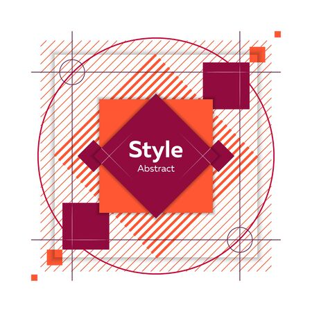 Badge for poster. Dynamical colored forms and lines. Abstract banner with geometric shapes. Template for web app, banner, advertising. Vector illustration Ilustração